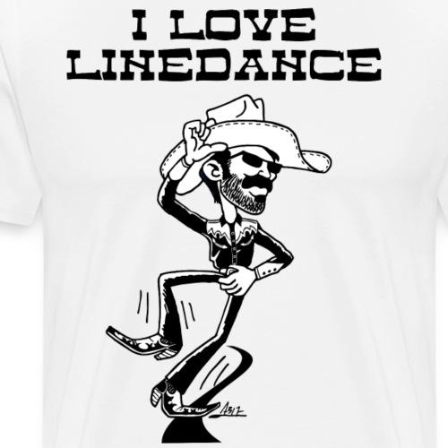 i love linedance road black - Mannen Premium T-shirt