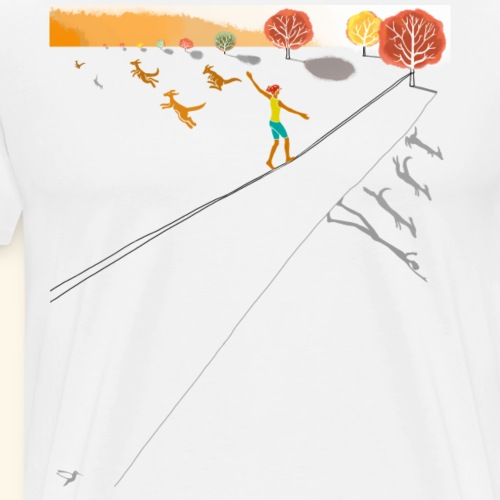 How to live - in Balance / Farbe - Männer Premium T-Shirt