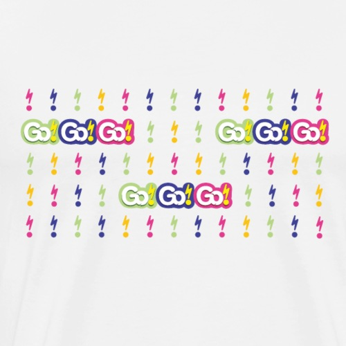 Go!Go!Go! Lightening Background - Men's Premium T-Shirt