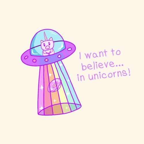 I want to believe ... in unicorns! - Männer Premium T-Shirt