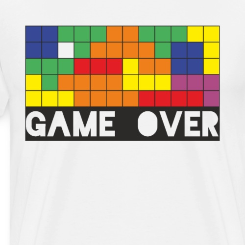 GAME OVER Vintage Design - Männer Premium T-Shirt