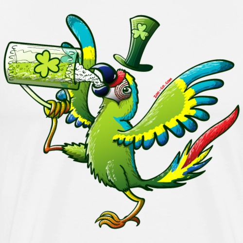 Saint Patrick's Day Macaw - Men's Premium T-Shirt