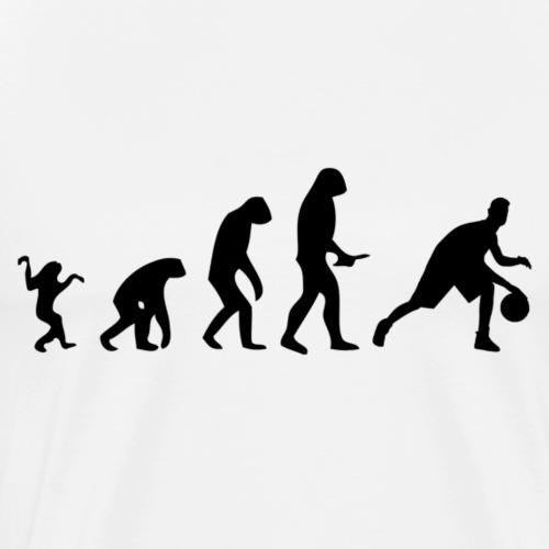 Evolution of Human to a Basketballer - Männer Premium T-Shirt