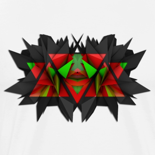 3D Abstract - The Black Widow - Men's Premium T-Shirt