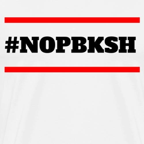 #nopbksh | Keine Pflege berufs kammer in SH | rot - Männer Premium T-Shirt