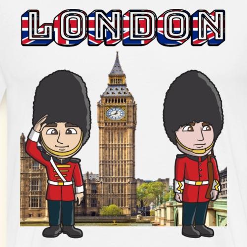 London Big Ben Houses Parlament Westminster Guards - Men's Premium T-Shirt