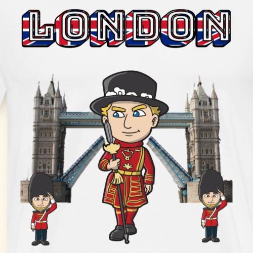London Tower Bridge Beefeater & Queens Guards - Men's Premium T-Shirt
