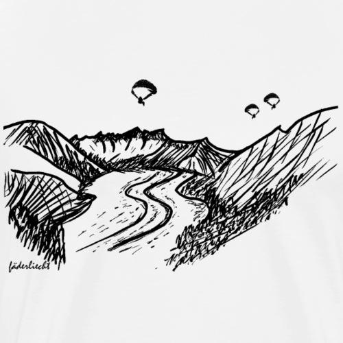 Fly Fiesch – Gleitschirm über Aletsch-Gletscher - Männer Premium T-Shirt