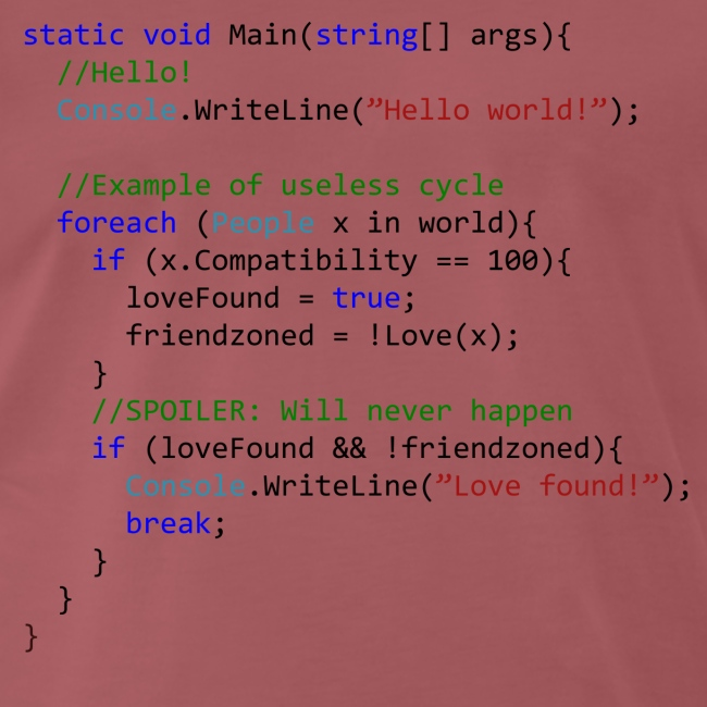 Love seen by a C# programmer