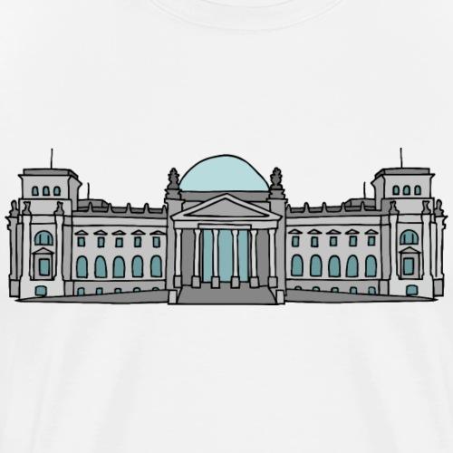 Palazzo del Reichstag a BERLINO c - Maglietta Premium da uomo