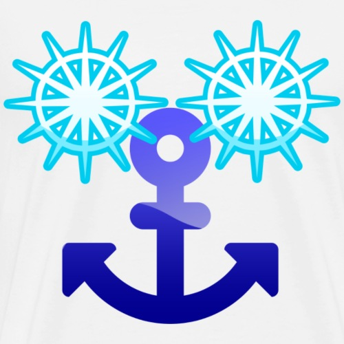 Sailor smily face for yachting sailing water sport - Men's Premium T-Shirt