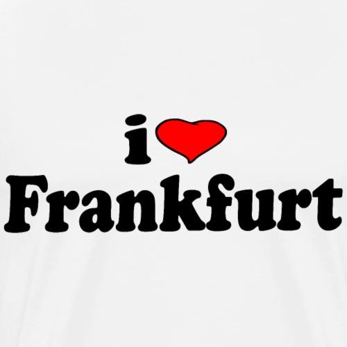 Ich liebe Frankfurt (I love Frankfurt) - Männer Premium T-Shirt