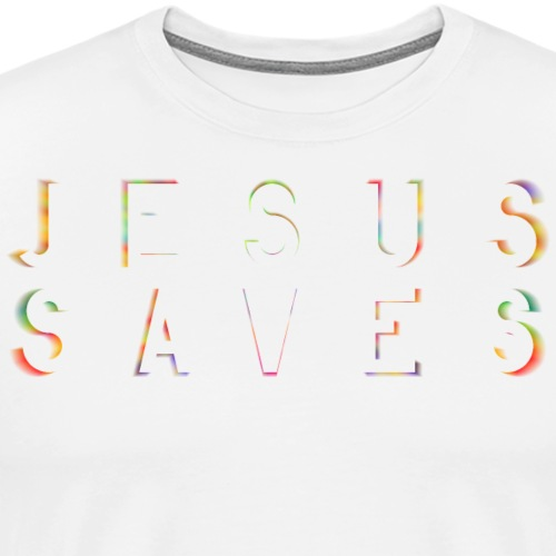 Jesus Saves Farbexplosion - Männer Premium T-Shirt