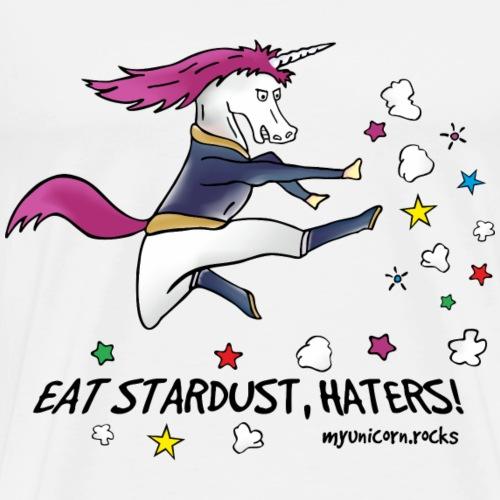 Badass Unicorn kicking ass - eat stardust - Men's Premium T-Shirt