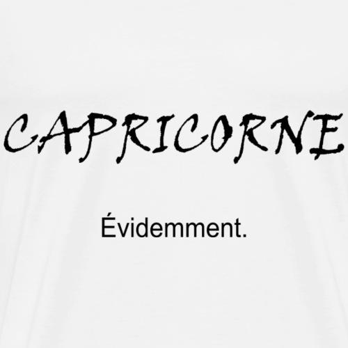 Capricorne évidemment, noir - T-shirt Premium Homme