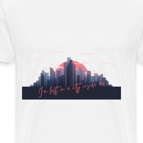 Je suis perdu dans une ville à l'intérieur de moi - T-shirt Premium Homme