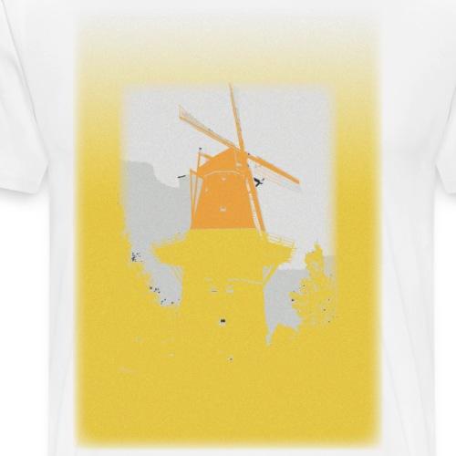 Mills yellow - Herre premium T-shirt