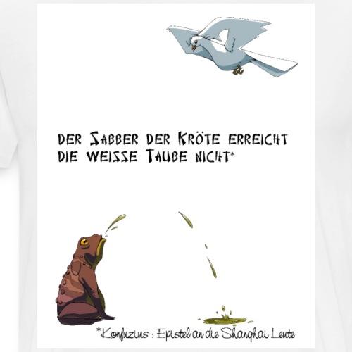 Konfuzius, Kröte & Taube - T-shirt Premium Homme