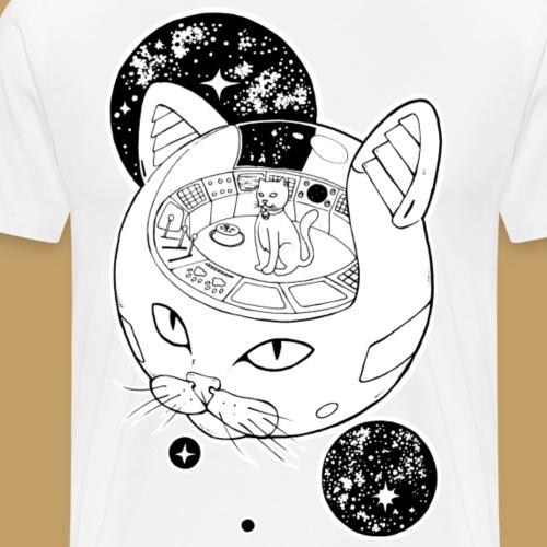 Kosmiczny Kot Imperator - Koszulka męska Premium