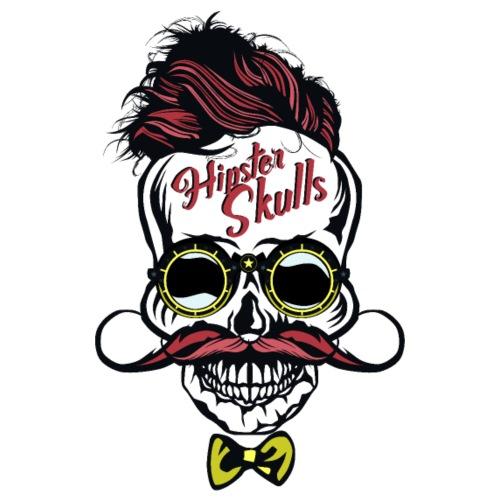 tete de mort hipster crane skull moustache coiffur - T-shirt Premium Homme