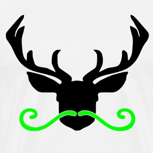 Hirsch mit Bart grün - Männer Premium T-Shirt