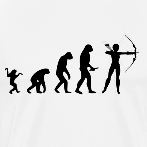 Evolution of Human to a Archer - Männer Premium T-Shirt