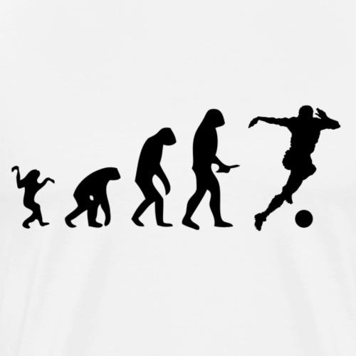 Evolution of Human to a Soccer player - Männer Premium T-Shirt
