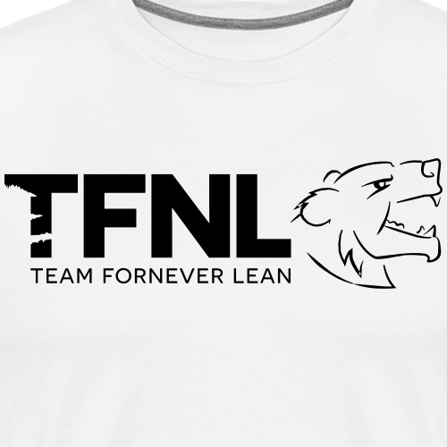 TFNL Black/White Logo Tee - Men's Premium T-Shirt