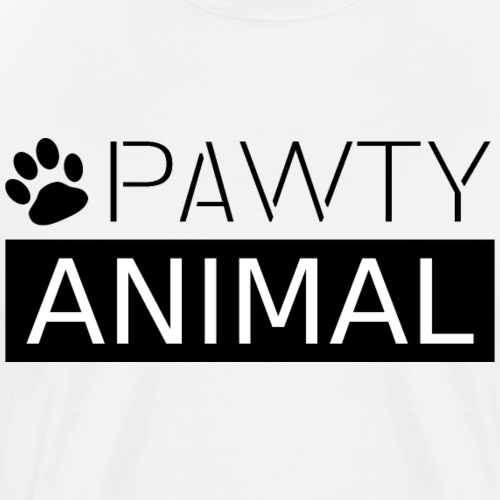 PAWTY ANIMAL schwarz - Männer Premium T-Shirt