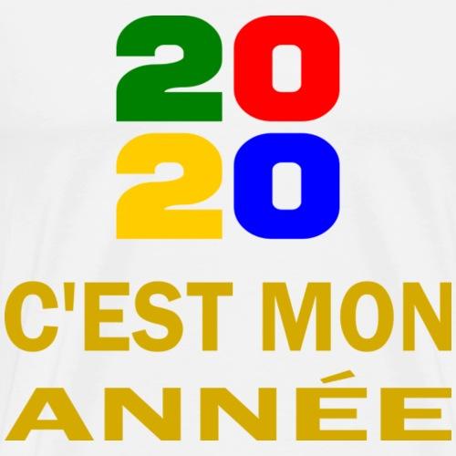 2020 Mon année - or - T-shirt Premium Homme