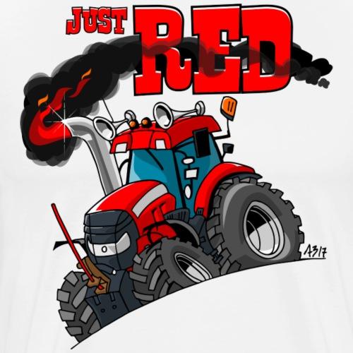 just RED - Mannen Premium T-shirt