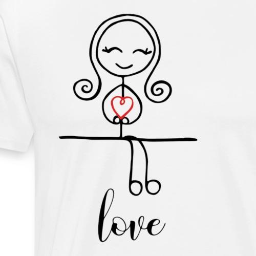 Strichmädchen LOVE - Männer Premium T-Shirt