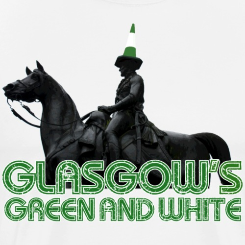 Glasgow s Green White - Men's Premium T-Shirt