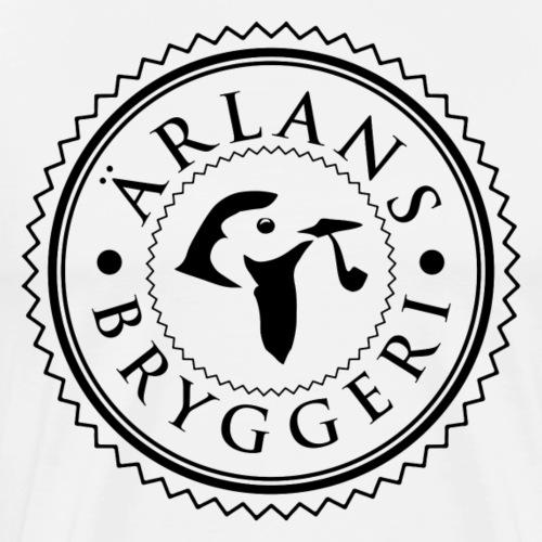 Ärlans Bryggeri black print - Premium-T-shirt herr