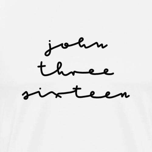 John Three Sixteen Johannes 3 16 Bibel Glaube - Männer Premium T-Shirt