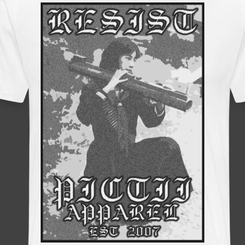 PICTRESIST6bw - Men's Premium T-Shirt