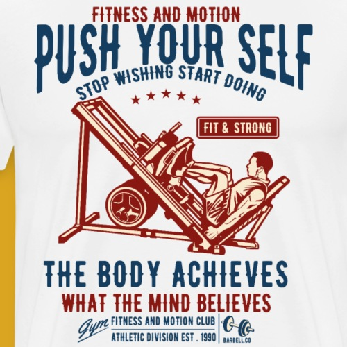 Body Building Pushing Fitness Vintage