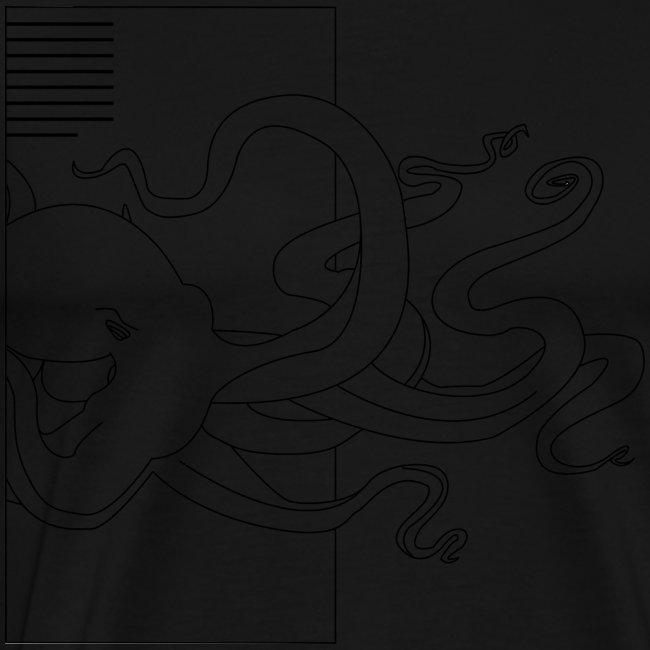 Tintenfisch-Logo Schwarz