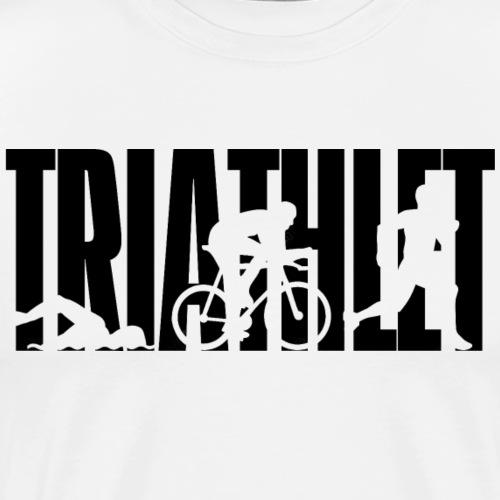 TRIATHLET - Triathlon - schwimmen - biken - rennen - Männer Premium T-Shirt