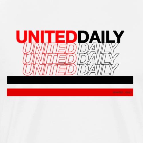 United Daily Repeat Logo - Men's Premium T-Shirt