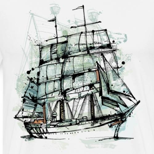 Segelschiff - Männer Premium T-Shirt