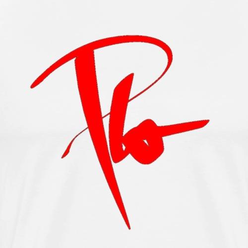 Plo Rotes Logo - Männer Premium T-Shirt