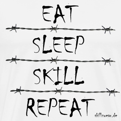 Eat Sleep Skill Repeat - Männer Premium T-Shirt