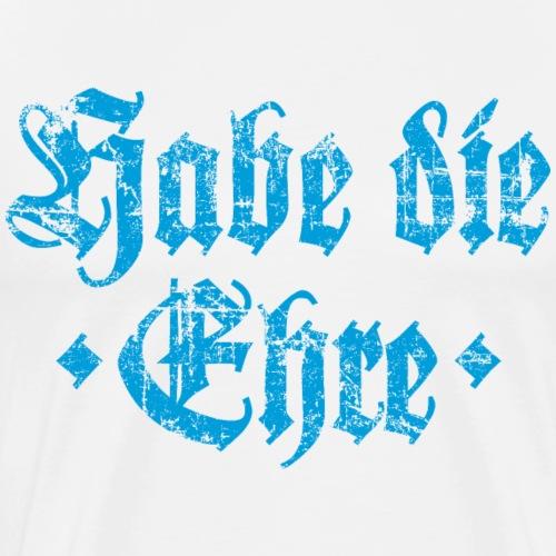 Habe die Ehre (Vintage/Hellblau) - Männer Premium T-Shirt