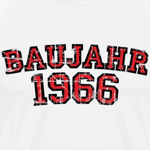 Baujahr 1966 Geburtstag Vintage Design (Rot) - Männer Premium T-Shirt