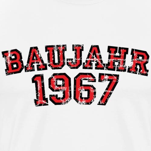 Baujahr 1967 Geburtstag Vintage Design (Rot) - Männer Premium T-Shirt