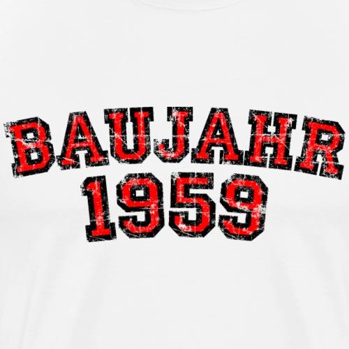 Baujahr 1959 Geburtstag Jahrgang Jahr (Rot) - Männer Premium T-Shirt