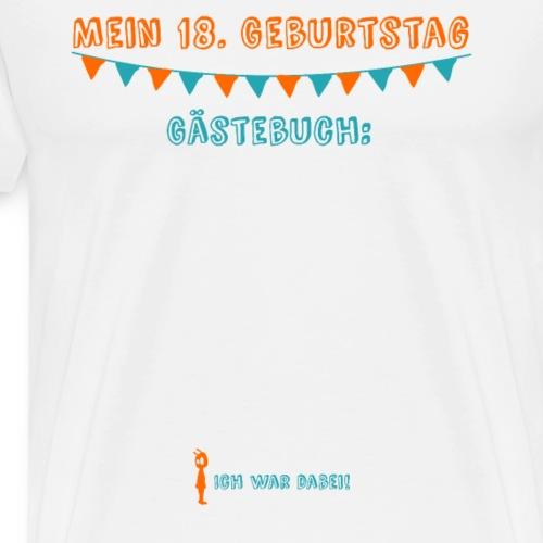 Farbenfrohes T-Shirt 18. Geburtstag mit Gästebuch