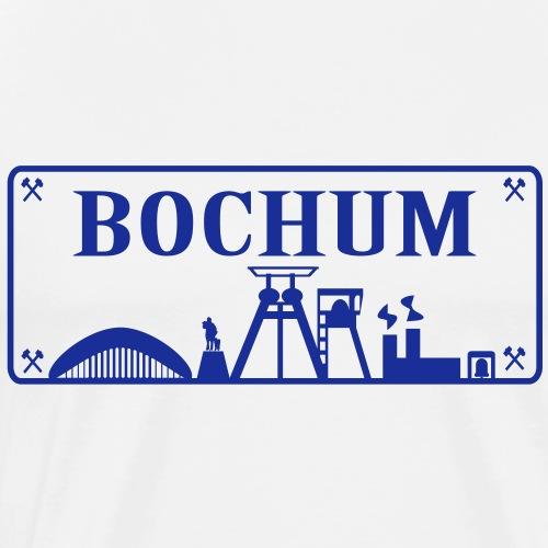 Schild mit Bochumer Skyline - Männer Premium T-Shirt