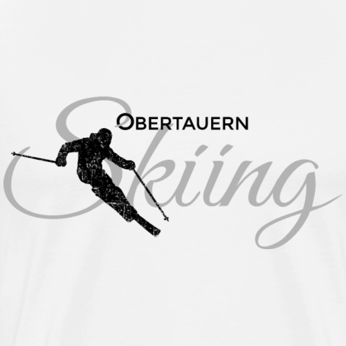 Obertauern Skiing (Grau) Apres-Ski Skifahrer - Männer Premium T-Shirt
